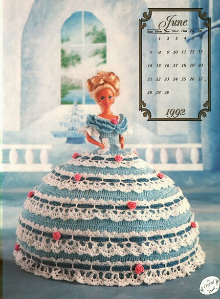 Vestido de Crochê Para Barbie - The Cotillion Collection Miss junho 1992