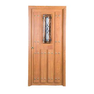 Puerta rustica Navarra con ventana