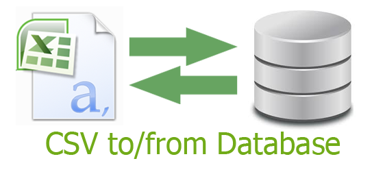 How to import / export database data from / to csv/xml/excel
