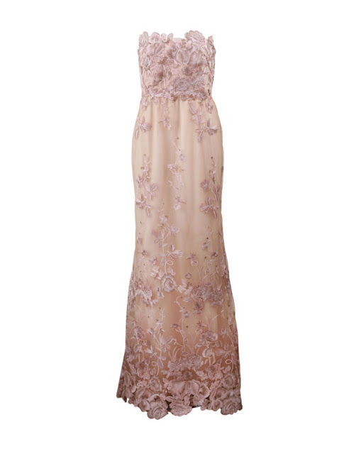 Notte by Marchesa  Pink Embellished Floral Tulle Gown, $1,395, available at Lyst.