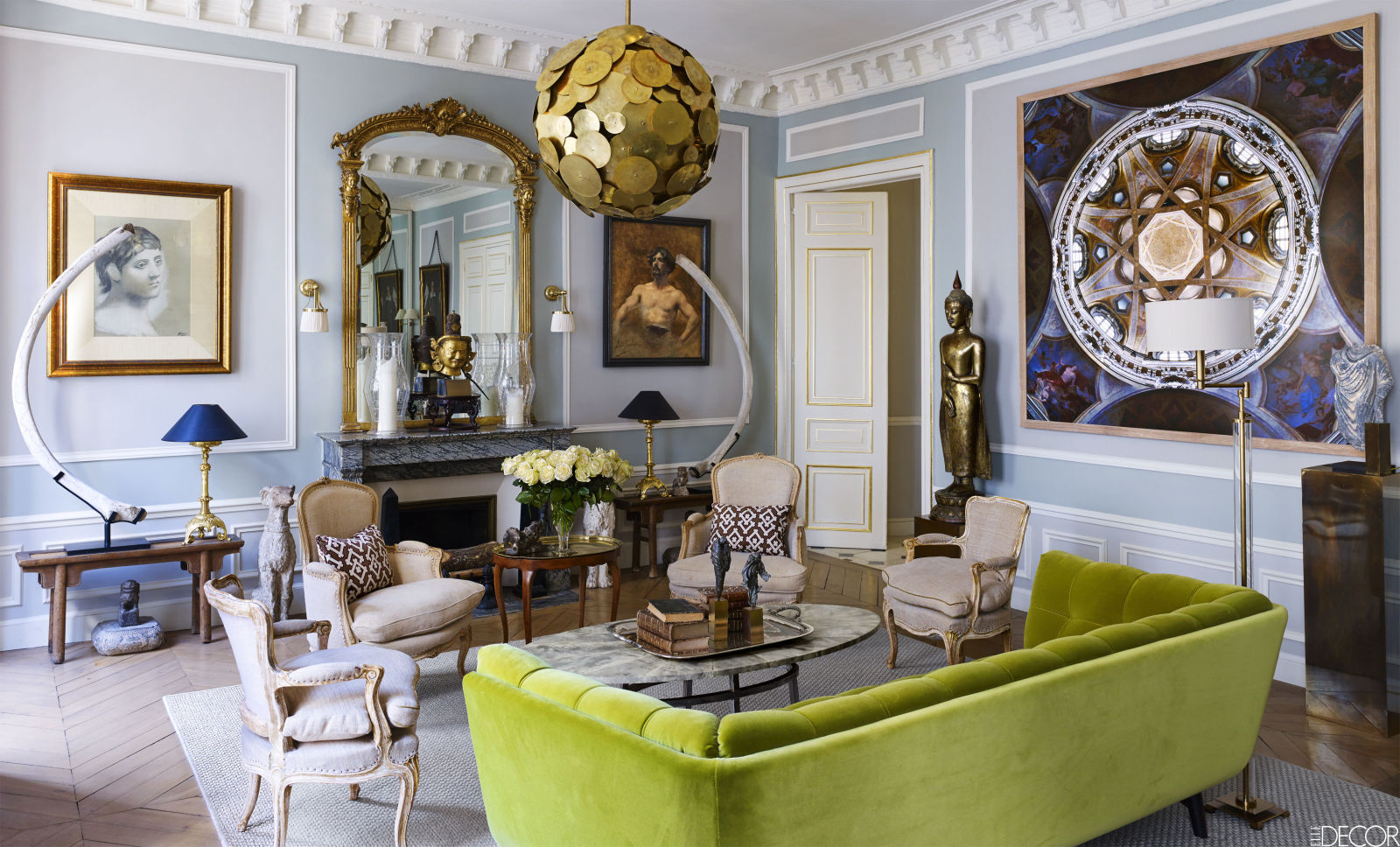 Loveisspeed House Tour East Meets West In A Sophisticated Paris Pied Terre In His