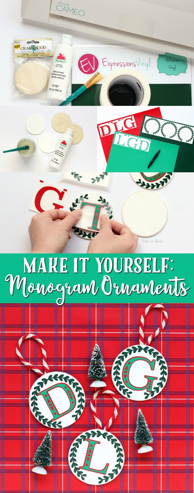 DIY Monogram Christmas Ornaments
