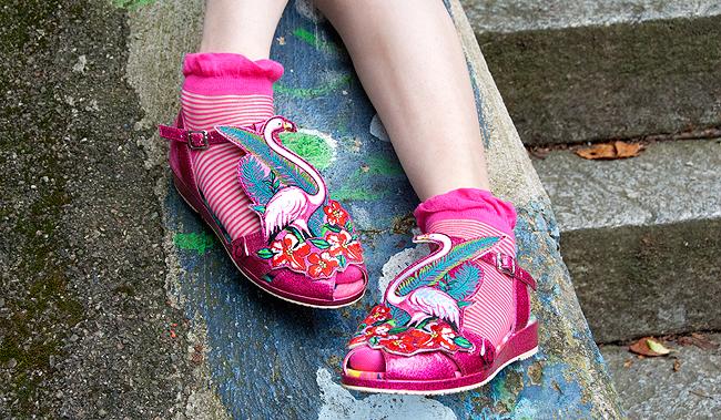 miss l fire, flamingo sandals, summer shoes