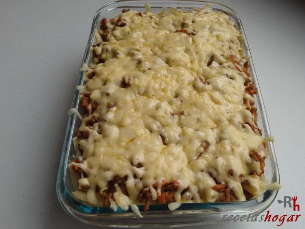 Receta de los macarrones con carne y malta