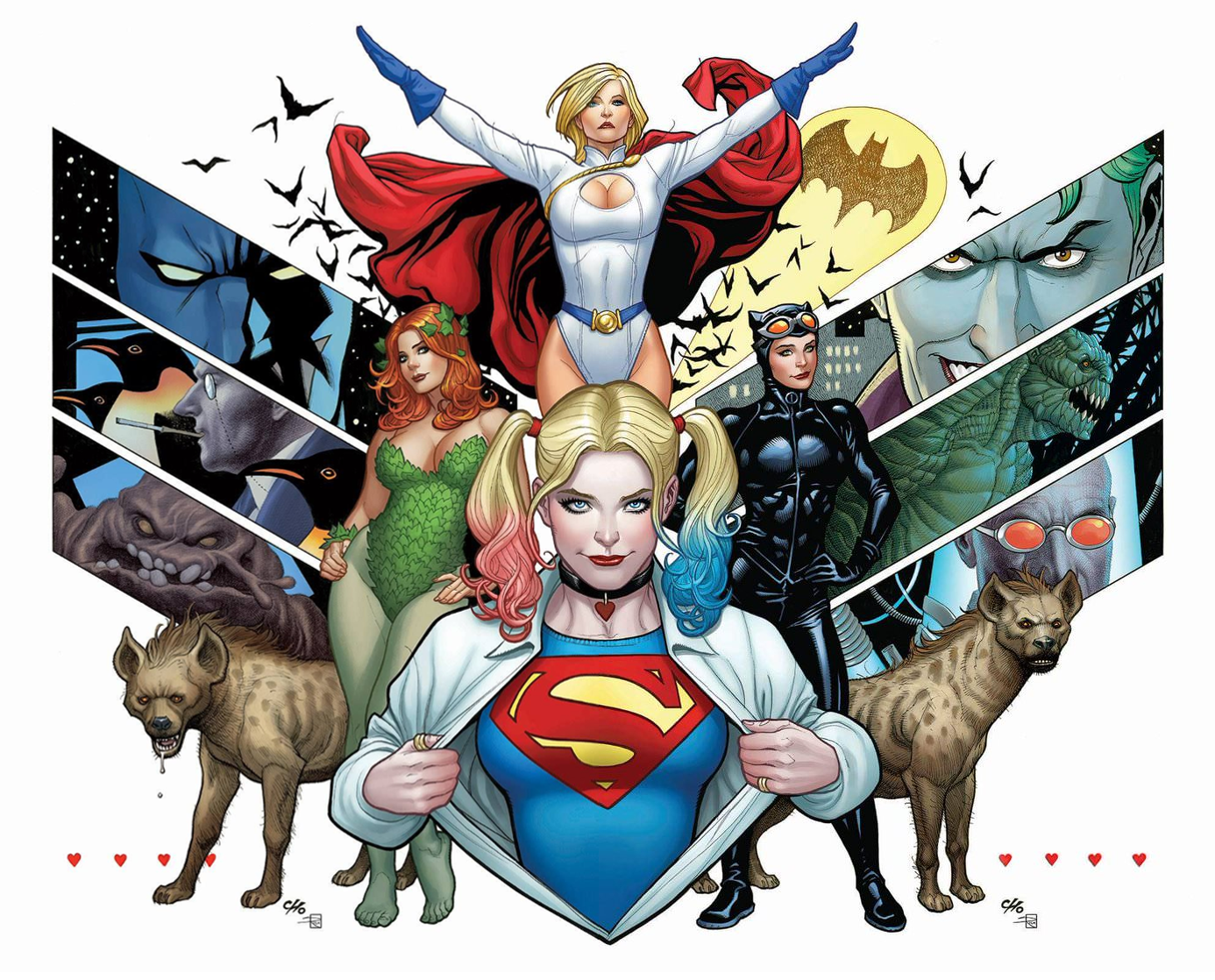8f4341427e0db Connecting variant cover art by Frank Cho & Sabine Rich for 'Harley Quinn'  issues #41-42, published April 2018 by DC Comics