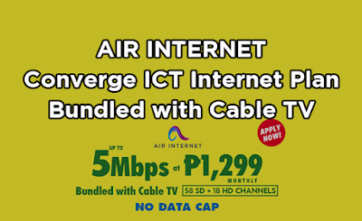 Air Internet : Converge ICT No Data Cap Internet Plan