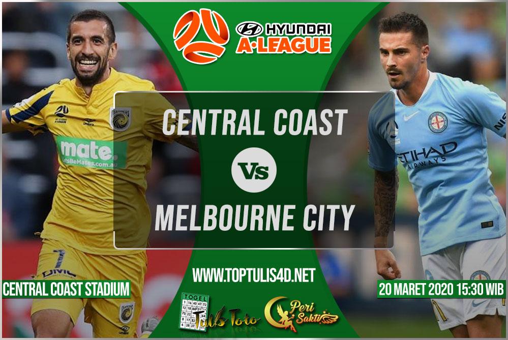 Prediksi Central Coast vs Melbourne City 20 Maret 2020