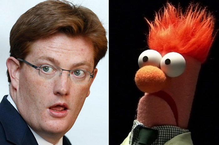 Staring eyes, shock of red hair and permanent baffled expression - if Beaker hadn't been around since the 1970s you could swear he was modelled on Danny Alexander