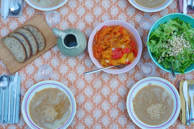 dîner veggie art de la table recette simple