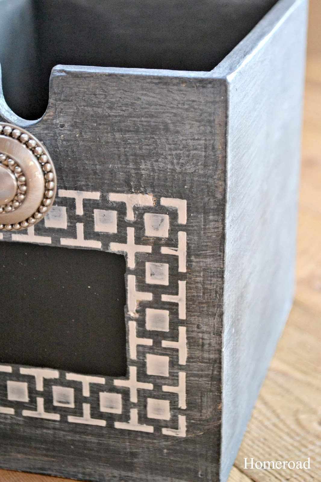 zinc drawer using Pearl Plaster www.homeroad.net