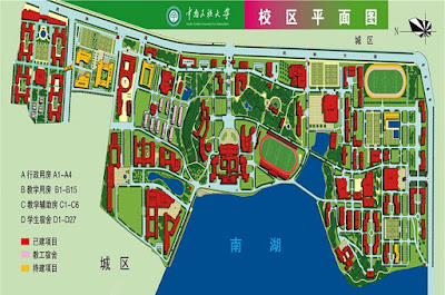plan campus wuhan chine