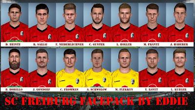 PES 2017 SC Freiburg Facepack 2018/2019 by Eddie Facemaker