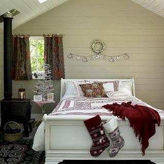 Dormitorio en Navidad