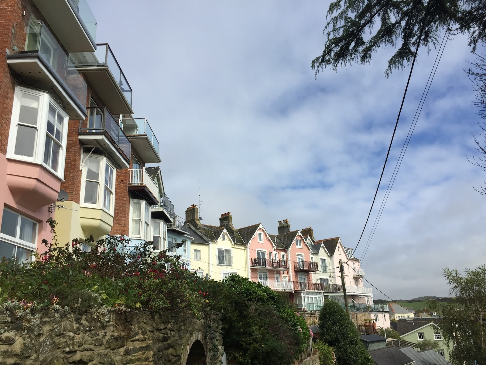 Salcombe pastel houses