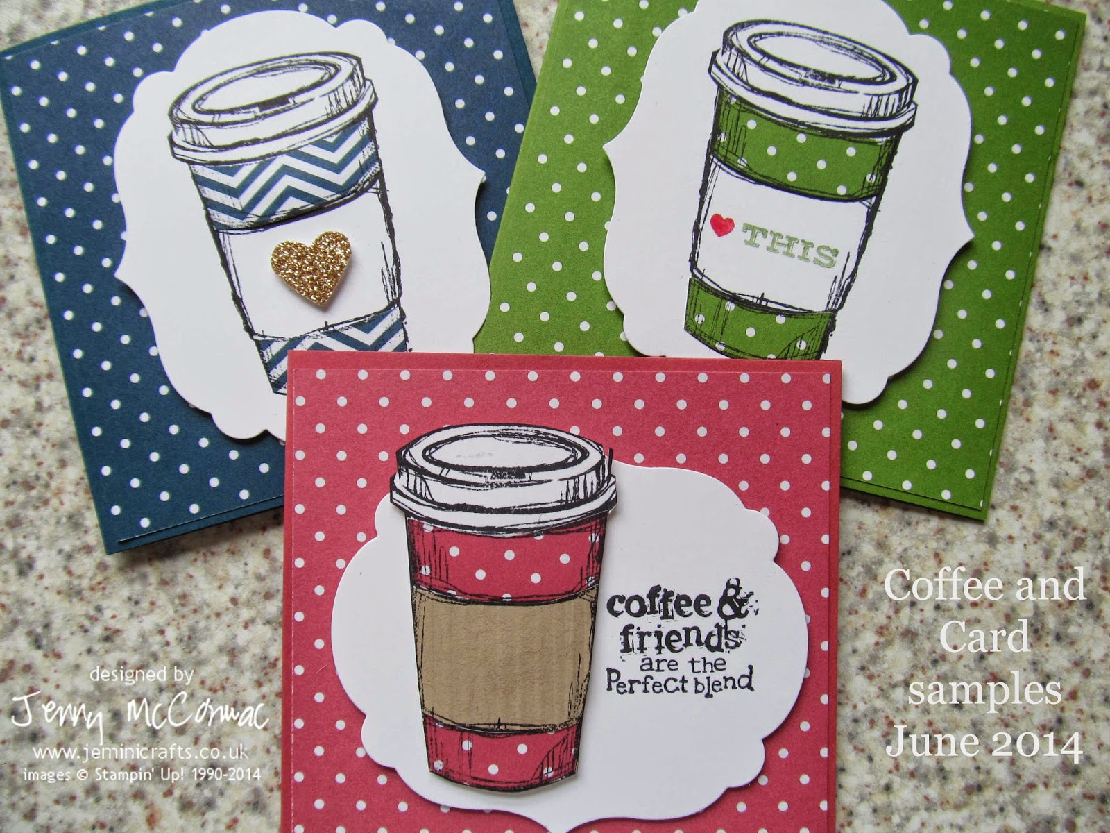 Coffee and a Card - card making session every Tuesday