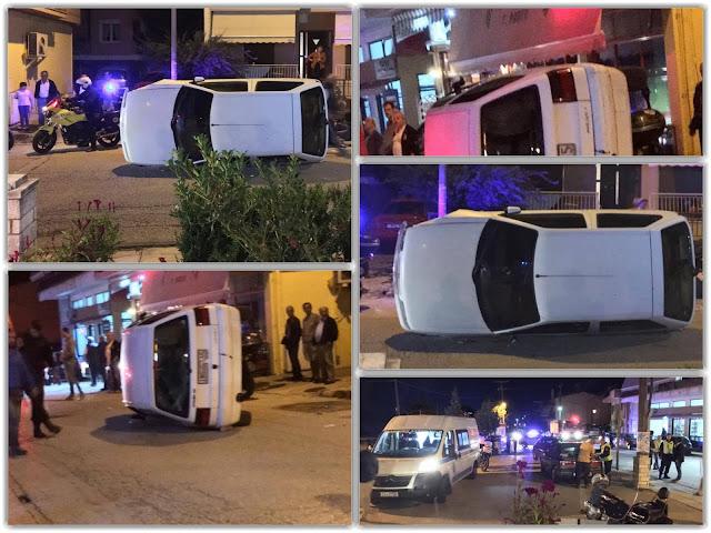 Εκτροπή οχήματος - Τραυματίστηκε η γυναίκα οδηγός