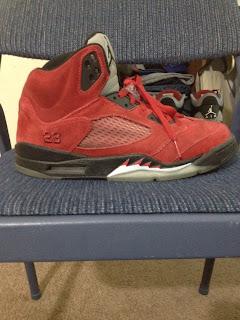 Cali Sneaker Zone: Raging Bull 5s Red Suede