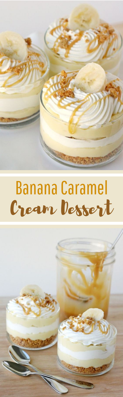 Banana Caramel Cream Dessert #sweettreat #desserts