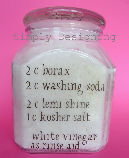 This homemade dishwasher detergent for hard water stains is so much better than what I have bought in the store.