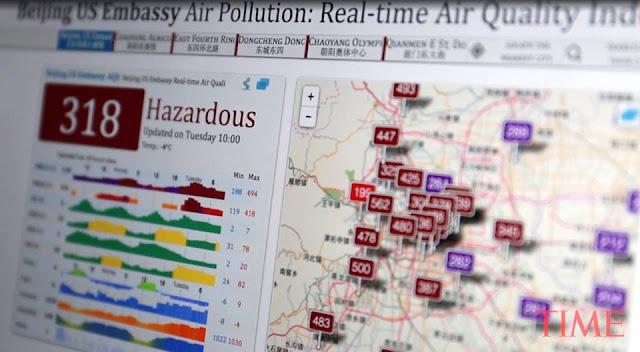 Chỉ số ô nhiễm không khí ở Bắc Kinh vượt ngưỡng báo động