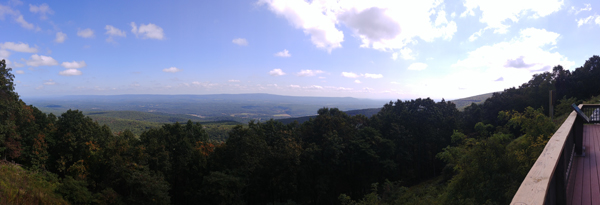 Cacapon Mountain Overlook Panorama by Aquariann