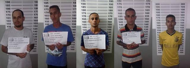GCM de Itupeva prende 5 por associação ao tráfico no Rio das Pedras