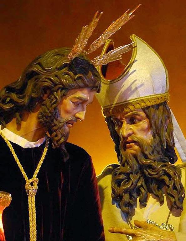 A Sinagoga também tentou truncar a missão redentora de Jesus. Detalhe do Cristo do Soberano Poder ante Caifás, Sevilha, Espanha