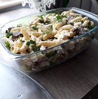 zapiekanka, makaron, sprzątanie lodówki, zioła z ogrodu