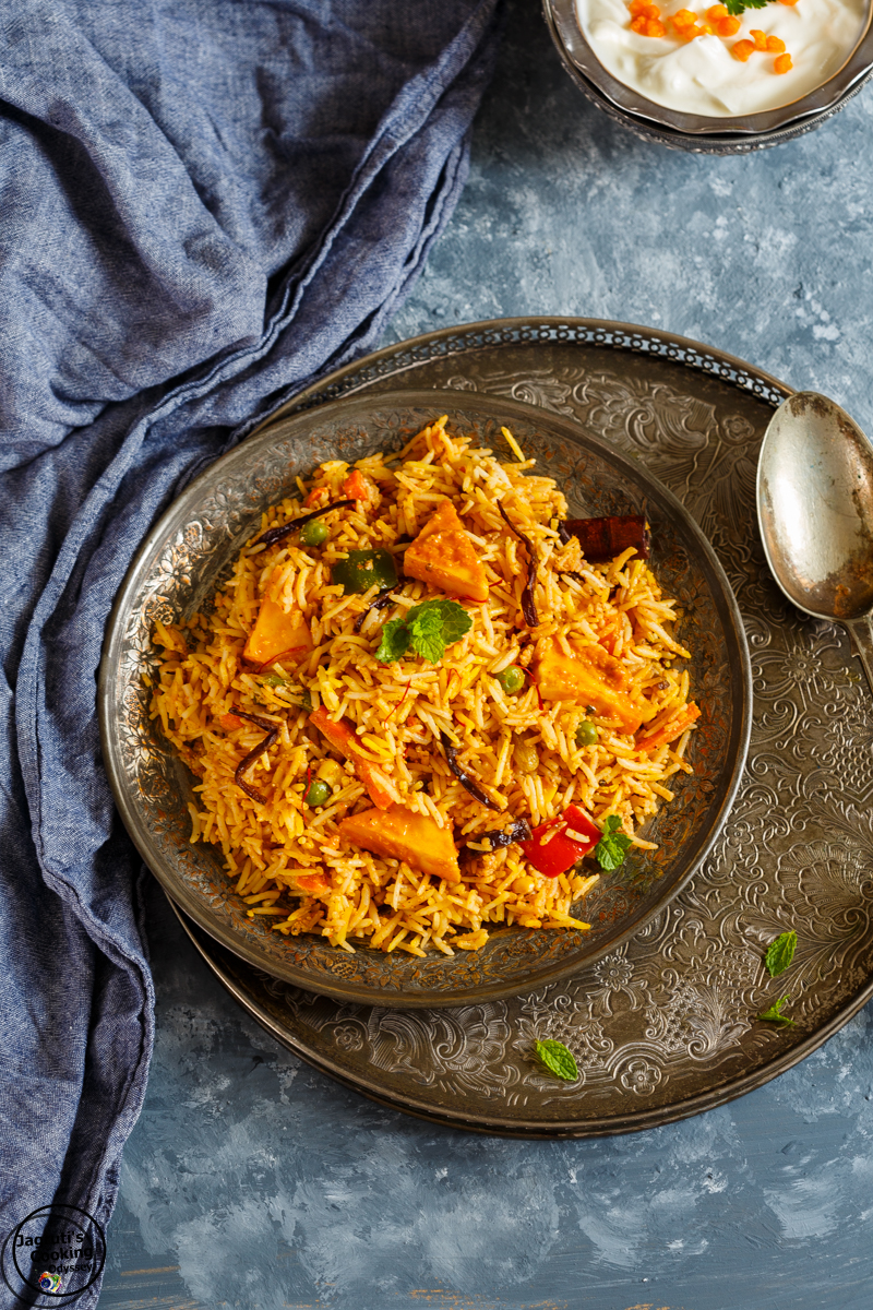 Paneer and vegetable makhni Biryani_Jagruti's Cooking odyssey