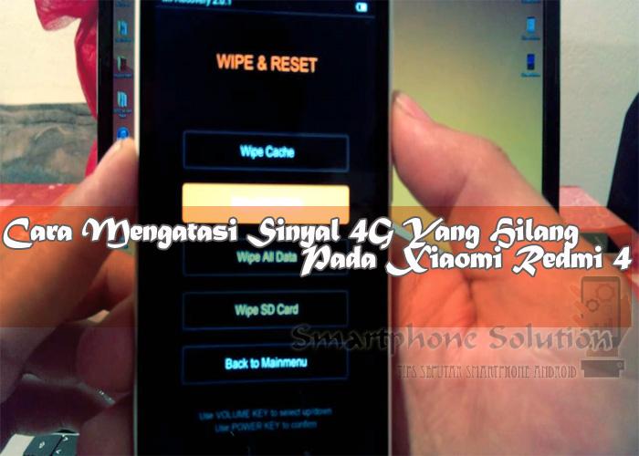 Solusi Sinyal Hp Xiaomi Hilang Total