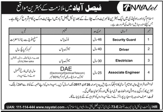 Jobs In   Naya Tel Faisalabad Dec 2017