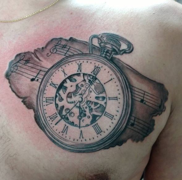 50 evergreen pocket watch tattoos ideas and designs 2018 for Pocket watches tattoos