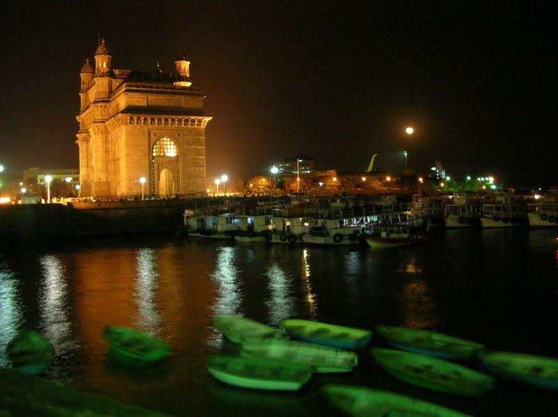 night india gateway gate mumbai places cool panoramio close