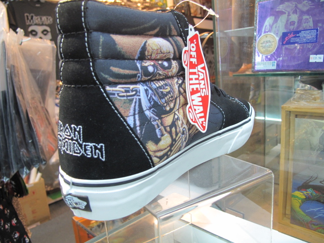 e7b37bc7ef Ltd Edition Skate Shoes with the Iron Maiden Peace of Mind design