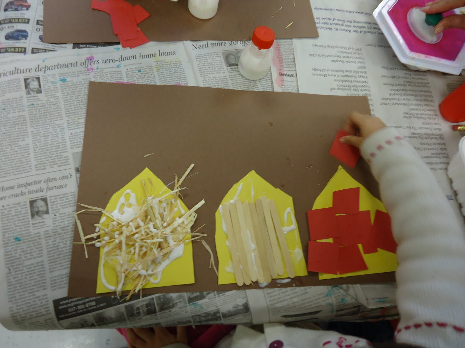 Trinity Preschool Mount Prospect Three Little Pigs Project