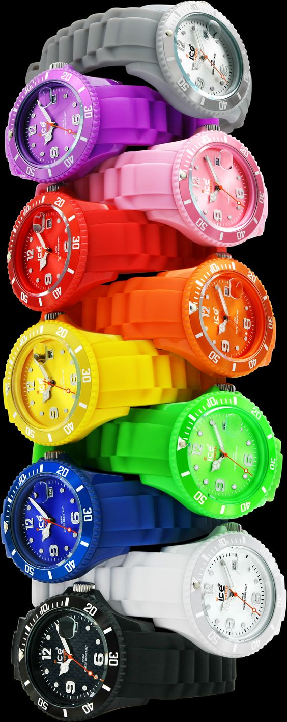watches in colors of the rainbow