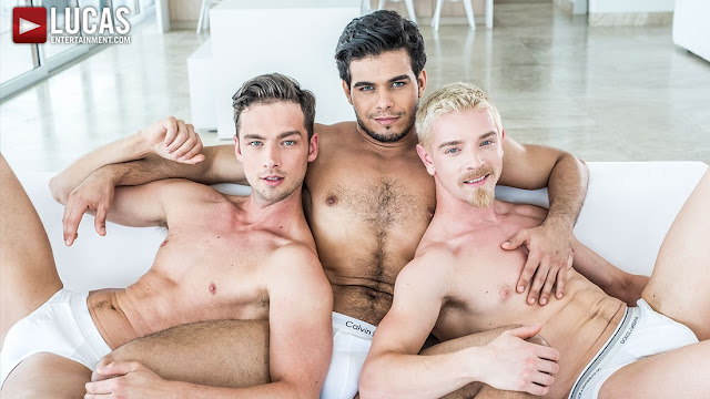 Rico Marlon, Damon Heart And Cody Winter – Bareback Double Penetration