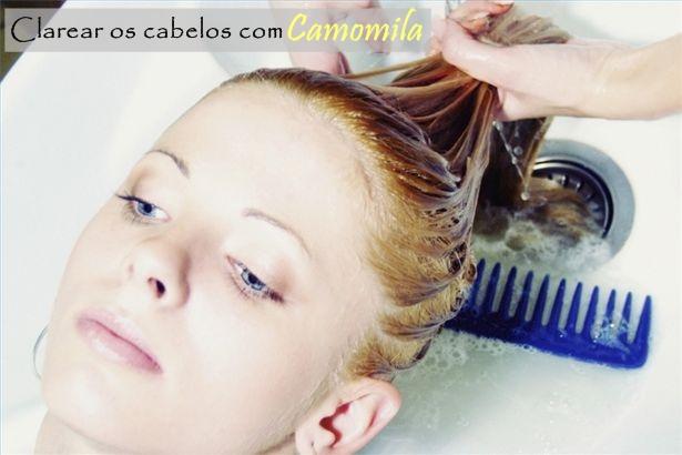 Clarear os cabelos com chá de camomila
