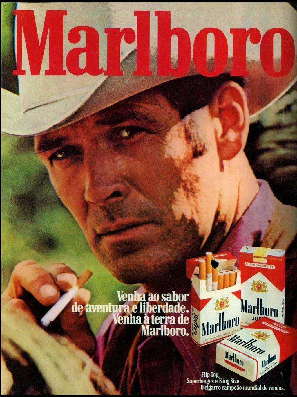 Malboro cigarettes in the 70s. anos 70.  reclame 1974; propaganda anos 70; história decada de 70; reclame anos 70; propaganda cigarros anos 70; Brazil in the 70s; Oswaldo Hernandez;