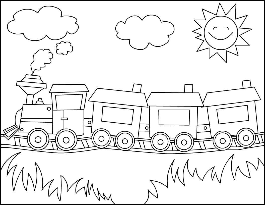 Bauzinho Da Web Bau Da Web Desenhos De Trem Para Pintar