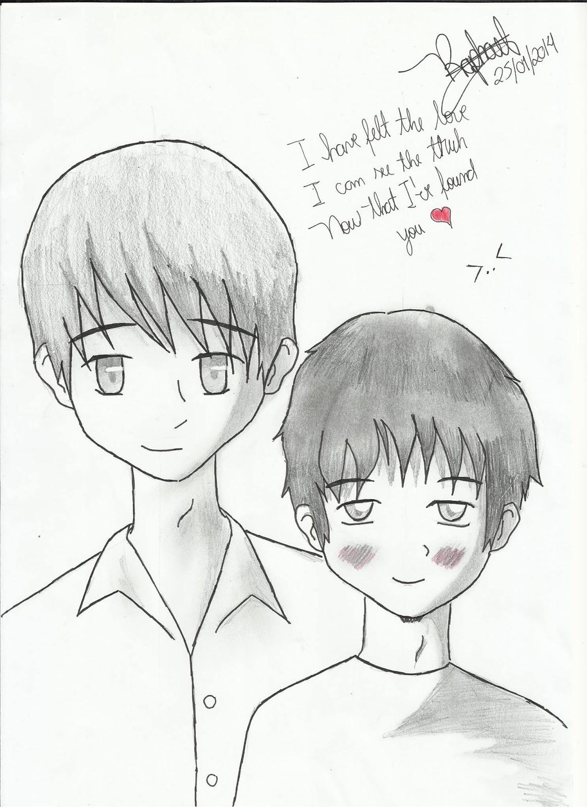 Desenho que fiz para o meu primeiro namorado