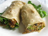 Broccoli, Quinoa and Black Bean Burrito with Cashew Sauce