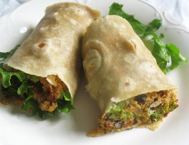 vegan quinoa burrito