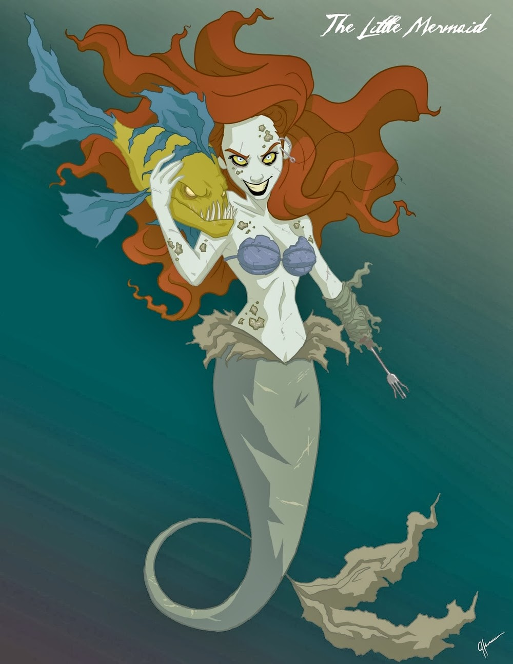 02-Ariel-The-Little-Mermaid-Jeffrey-Thomas-Twisted-Princess-www-designstack-co