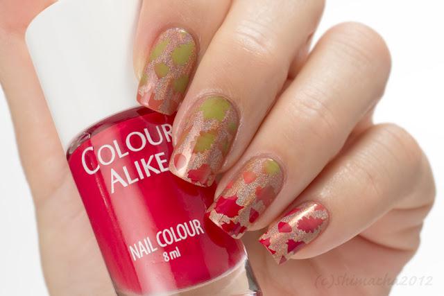 Fallen Leaves Nails, Colour Alike SWEET SEPTEMBER, Stamping Nail, スタンピングネイル, ネイルスタンプ