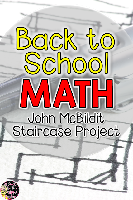 John McBildit math project freebie - a great first week of 2nd  or 3rd grade math project, focused on different strategies that can be used to approach a math problem from I Want to be a Super Teacher