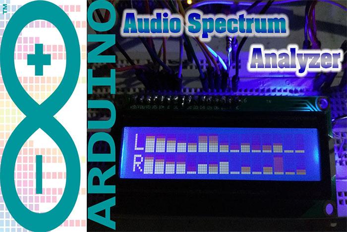 Audio Spectrum Analyzer Arduino + LCD 2x16 - MUHILHAM