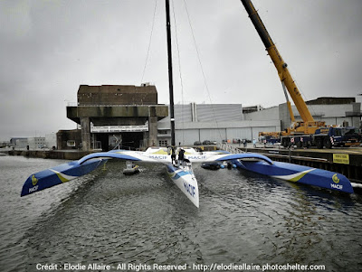 Le maxi trimaran Macif en chantier d'optimisation