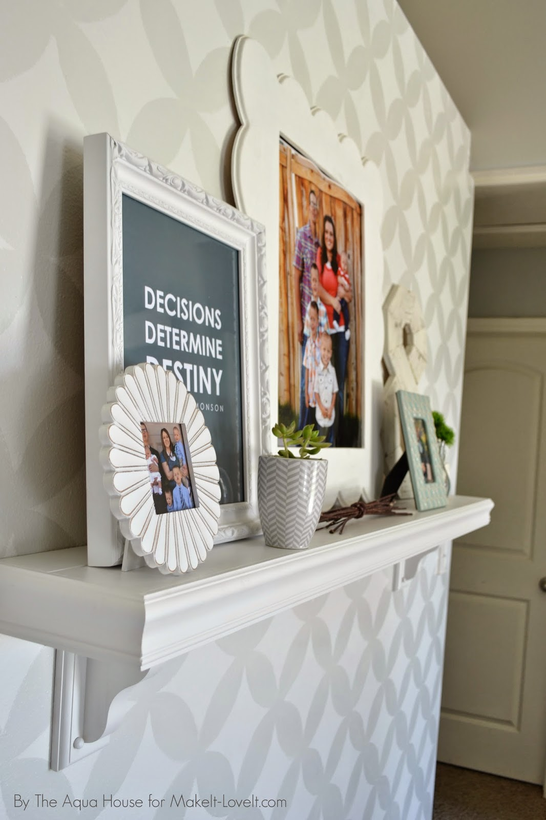 Faux Fireplace Mantle For Those Without A Fireplace Make It And
