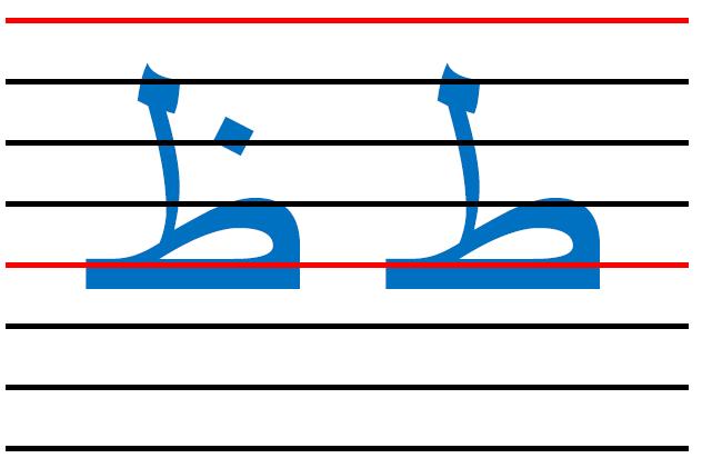 x15 - المقاييس الصحيحة  في الكتابة لكل الحروف العربية